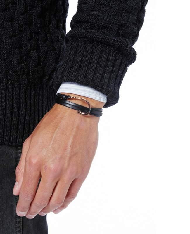 Miansai Silver Hook Leather Bracelet Leather Metal Hook Bracelet