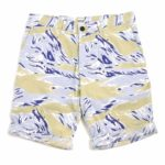 Short EDWIN Rail Bermuda Poplin Allover Print Camo Stone Washed